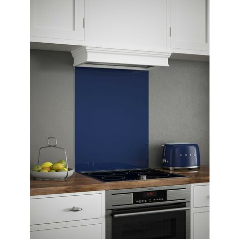 Midnight Blue Glass Kitchen Splashbacks - different dimensions available