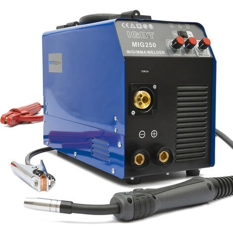 MIG-250AI Schutzgas Inverter Schweißgerät MIG MAG + E-Hand IGBT 250Amp 230V