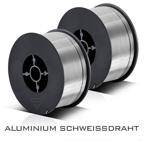 MIG MAG alambre para soldar de aluminio ER4043 Si5 (ALSI-5) Ø 0,8 mm rollo de 0,45 kg Juego de 2