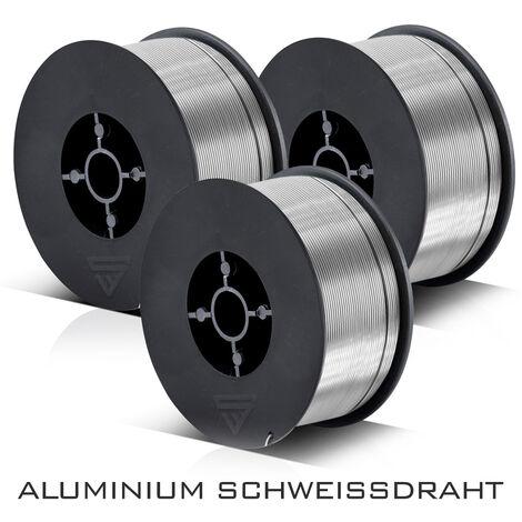 MIG MAG alambre para soldar de aluminio ER4043 Si5 (ALSI-5) Ø 0,8 mm rollo de 0,45 kg Juego de 3