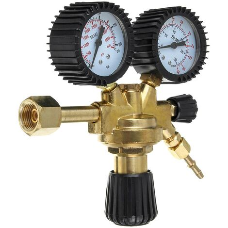 Mig Tig régulateur de pression CO2 réducteur Durable Mini bouteille de gaz outil de haute précision en laiton Argon AR CO2 maison double jauge
