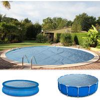 Miganeo® Pool Solarplane 457 schwarz/blau