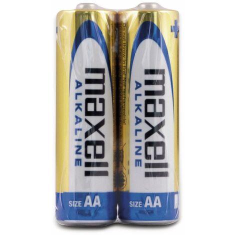 Mignon-Batterie MAXELL, Alkaline, AA, LR6, 2 Stück