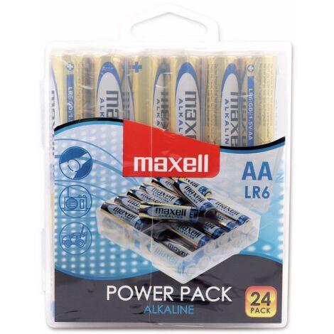 Mignon-Batterie MAXELL, Alkaline, AA, LR6, 24 Stück