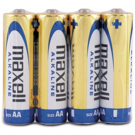 Mignon-Batterie MAXELL, Alkaline, AA, LR6, 4 Stück