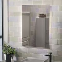 Mila Large Battery Operated LED Backlit Illuminated Bathroom Mirror