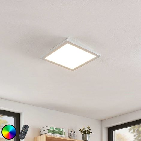 Milan LED ceiling light, remote control 30 x 30 cm