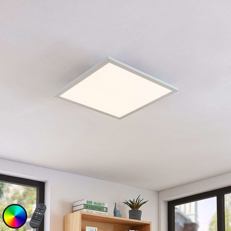Milan LED ceiling light, remote control 45 x 45 cm