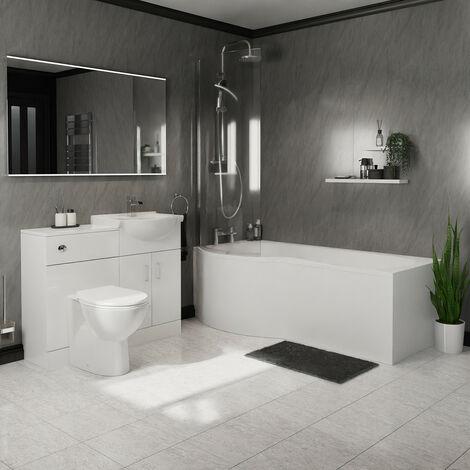 Milan Left Hand Shower Bath Suite
