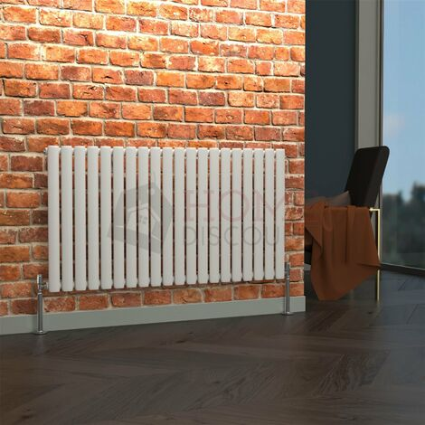 Milan Oval Single Horizontal Radiator, 635 x 1180mm, White