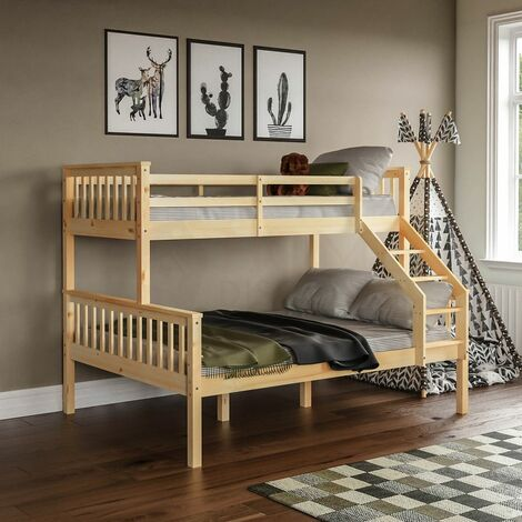 Milan Triple Sleeper Bunk Bed, Pine