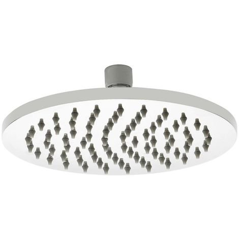 Milano 200mm Stainless Steel Round Shower Head with a Polished Chrome Finish