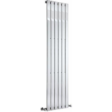 Milano Alpha - 1800mm x 450mm Modern Vertical Column Single Flat Panel Designer Radiator – Chrome