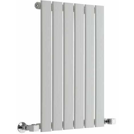 "main image of ""Milano Alpha - Modern White Horizontal Single Flat Panel Designer Radiator – 635mm x 420mm"""
