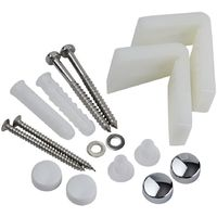 Milano Angled Toilet Floor Fixing Kit for WC Pans, Bidets and Semi Pedestal Basins