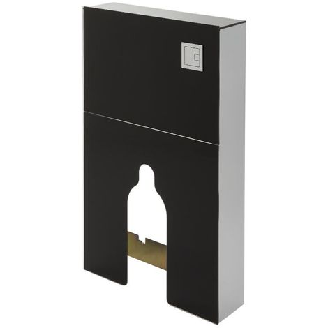 Milano Arca - Black 504mm Bathroom Toilet WC Unit for Back to Wall Pan