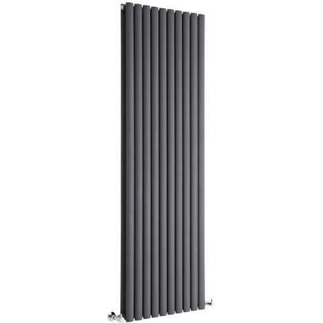 Milano Aruba - 1780mm x 590mm Modern Vertical Column Double Panel Designer Radiator – Anthracite