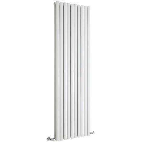 Milano Aruba - 1780mm x 590mm Modern Vertical Column Double Panel Designer Radiator – White