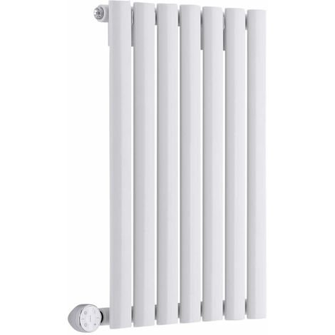 Milano Aruba Electric – 400W Modern White Horizontal Single Panel Designer Radiator – 635mm x 415mm