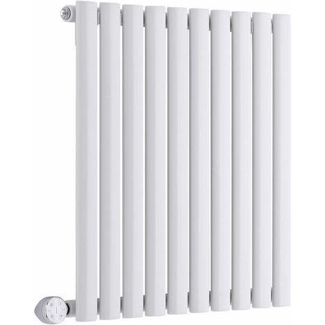 Milano Aruba Electric – 800W Modern White Horizontal Single Panel Designer Radiator – 635mm x 595mm