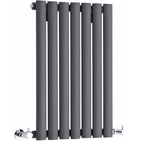 Milano Aruba - Horizontal Oval Column Designer Radiator - Anthracite - 635 x 415mm