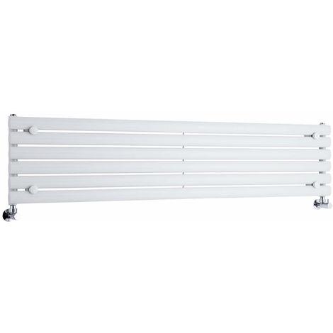 Milano Aruba - Horizontal Oval Column Designer Radiator - White - 354 x 1600mm