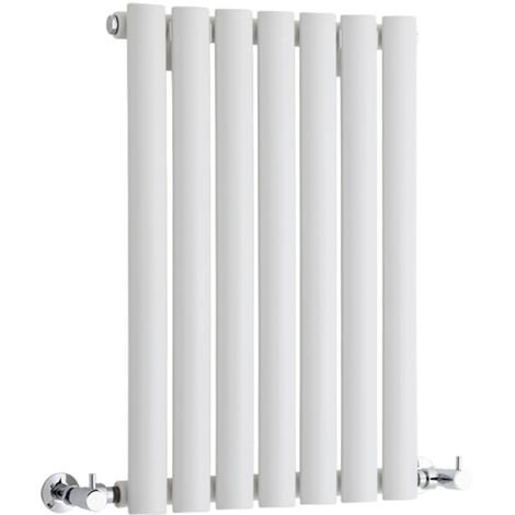 Milano Aruba - Horizontal Oval Column Designer Radiator - White - 635 x 415mm