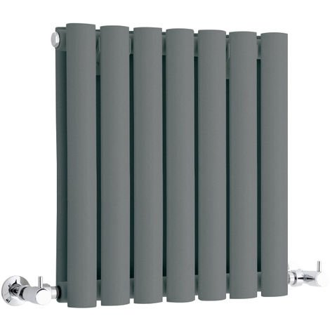 Milano Aruba - Modern Anthracite Horizontal Double Panel Designer Radiator – 400mm x 415mm