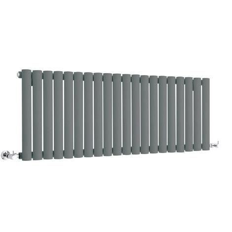 Milano Aruba - Modern Anthracite Horizontal Single Panel Designer Radiator – 400mm x 1180mm