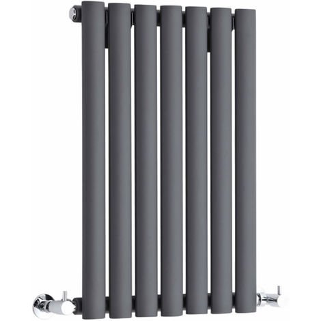 Milano Aruba - Modern Anthracite Horizontal Single Panel Designer Radiator – 635mm x 413mm