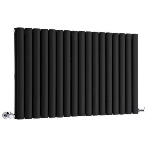 Milano Aruba - Modern Black Horizontal Double Panel Designer Radiator – 635mm x 1000mm