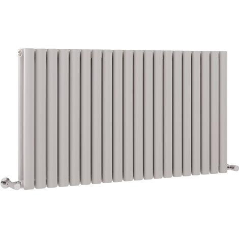 Milano Aruba - Modern Light Grey Horizontal Double Panel Designer Radiator – 635mm x 1180mm