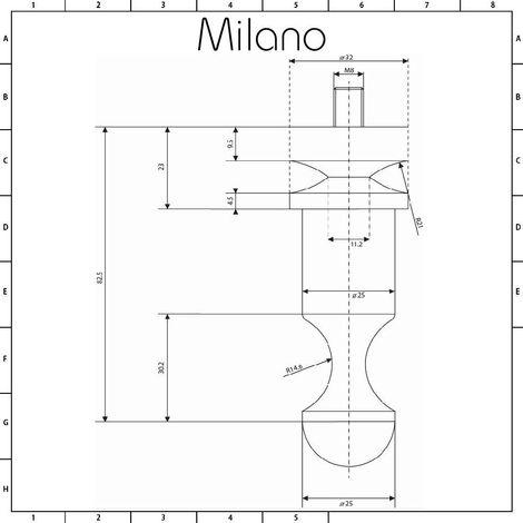 Milano Aruba - Modern Vertical Designer Radiator Robe Hook - Chrome