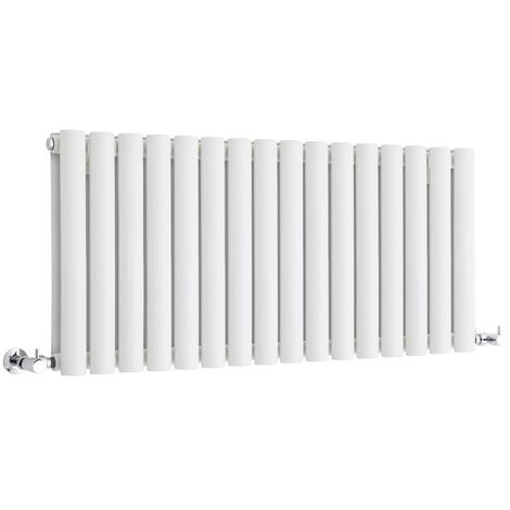 Milano Aruba - Modern White Horizontal Double Panel Designer Radiator – 400mm x 1000mm