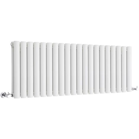 Milano Aruba - Modern White Horizontal Double Panel Designer Radiator – 400mm x 1180mm