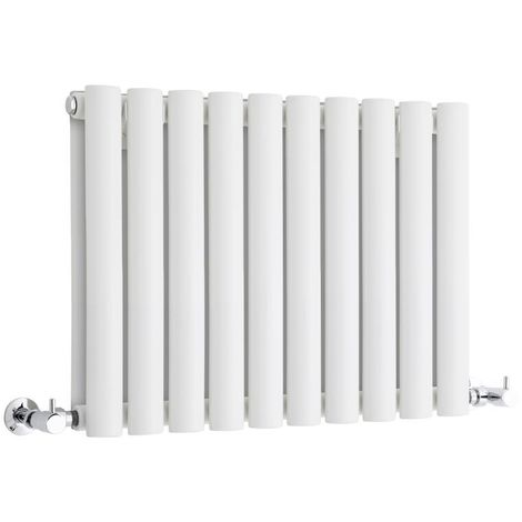 Milano Aruba - Modern White Horizontal Double Panel Designer Radiator – 400mm x 595mm