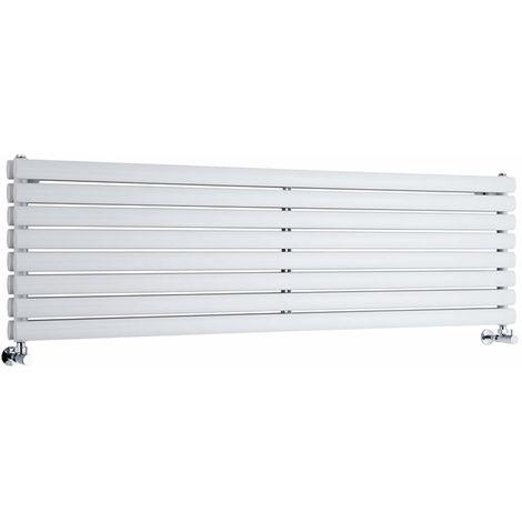 Milano Aruba - Modern White Horizontal Double Panel Designer Radiator – 472mm x 1600mm