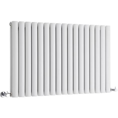 Milano Aruba - Modern White Horizontal Double Panel Designer Radiator – 635mm x 1000mm