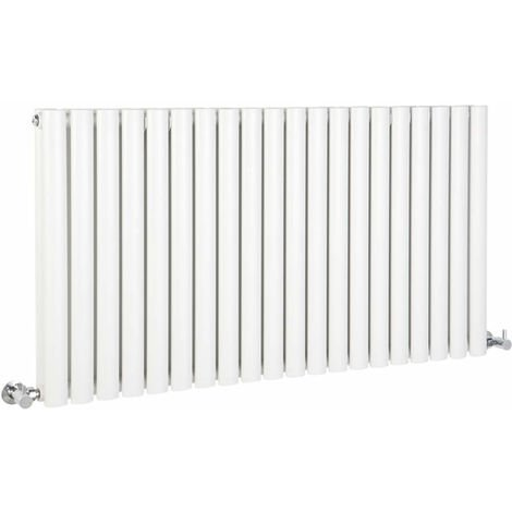 Milano Aruba - Modern White Horizontal Double Panel Designer Radiator – 635mm x 1180mm
