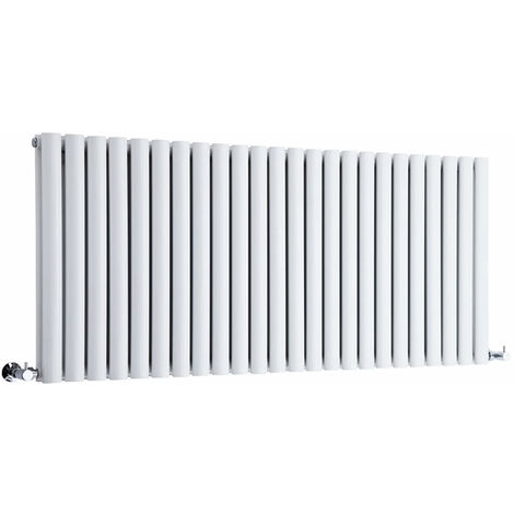 Milano Aruba - Modern White Horizontal Double Panel Designer Radiator – 635mm x 1411mm