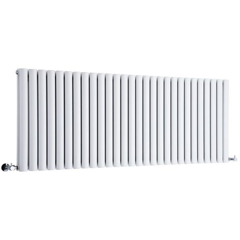 Milano Aruba - Modern White Horizontal Double Panel Designer Radiator – 635mm x 1647mm