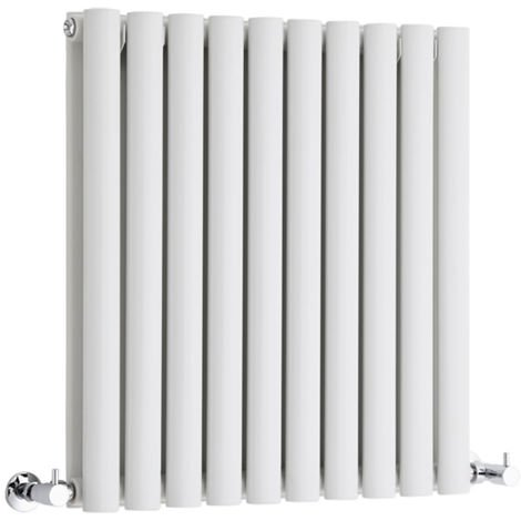 Milano Aruba - Modern White Horizontal Double Panel Designer Radiator – 635mm x 590mm