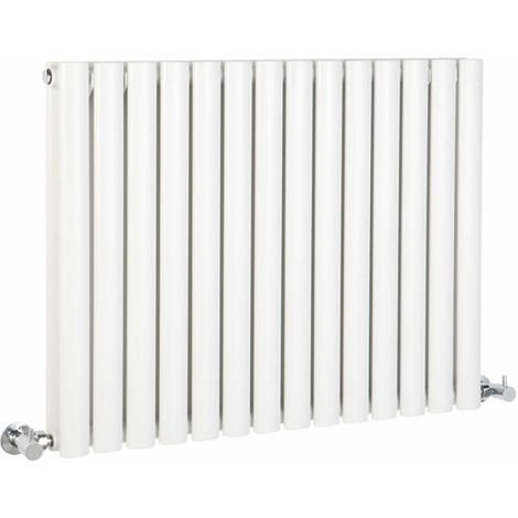 Milano Aruba - Modern White Horizontal Double Panel Designer Radiator – 635mm x 834mm
