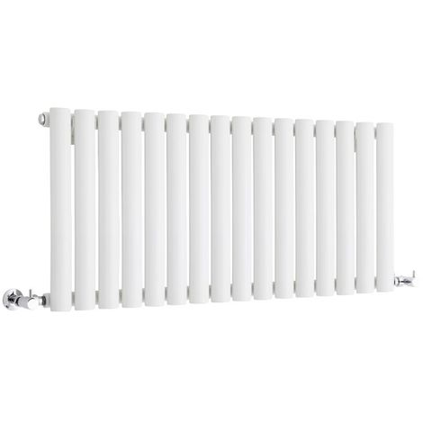 Milano Aruba - Modern White Horizontal Single Panel Designer Radiator – 400mm x 1000mm
