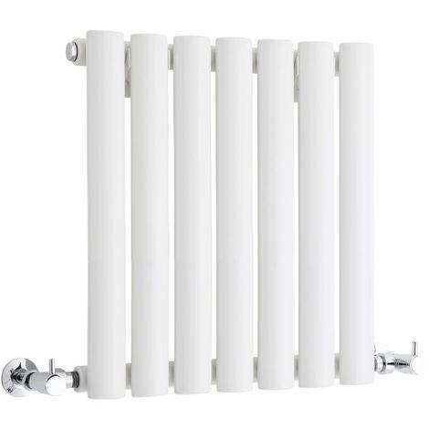 Milano Aruba - Modern White Horizontal Single Panel Designer Radiator – 400mm x 415mm