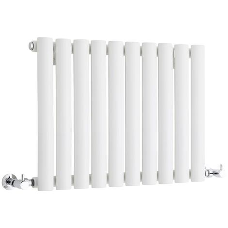 Milano Aruba - Modern White Horizontal Single Panel Designer Radiator – 400mm x 595mm