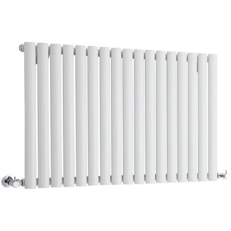 Milano Aruba - Modern White Horizontal Single Panel Designer Radiator – 635mm x 1000mm