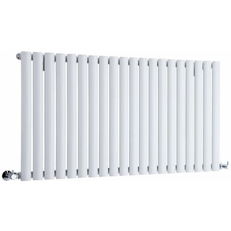 Milano Aruba - Modern White Horizontal Single Panel Designer Radiator – 635mm x 1180mm
