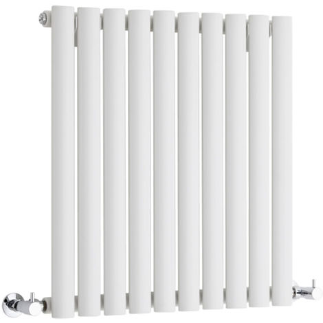 Milano Aruba - Modern White Horizontal Single Panel Designer Radiator – 635mm x 595mm