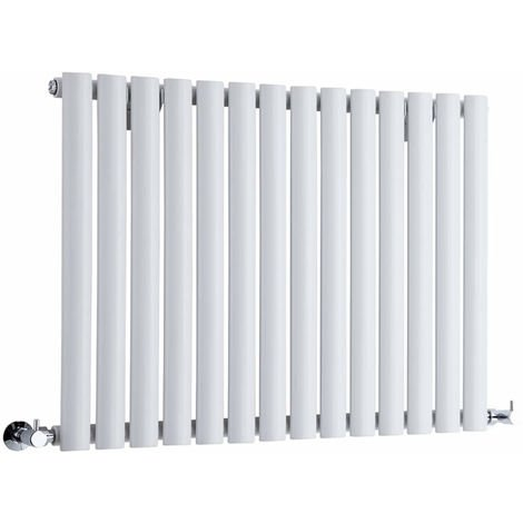 Milano Aruba - Modern White Horizontal Single Panel Designer Radiator – 635mm x 826mm